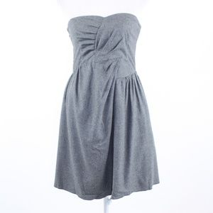 See By Chloe Gray strapless A-line dress 2 38